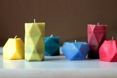 Ma maison au naturel: Fabriquez vous-même ces bougies à facettes