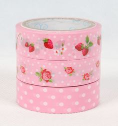 ♥This candy deco tape will make your packages, gift wrapping, scrapbooks, bookmarks, journals, letterpads, envelopes, cards etc look Prettier!!