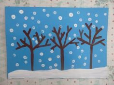 Cotton bud snow - Christmas crafts for kids - Netmums