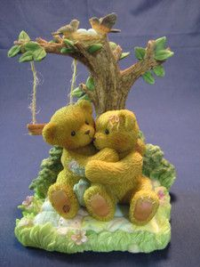 CHERISHED TEDDIES, AUSTIN AND ALMA, NO.789577, TWO BEARS SITTING UNDER A TREE
