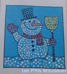 bonhomme neige coton-tige