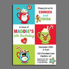 Christmas Hot Cocoa and Cookies Invitation by ThatPartyChick