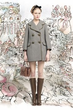 More amazing coats this season. Red Valentino Fall 2013 RTW.