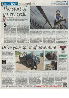 """""""The start of a New Cycle"""" and #CycleAlert as a solution to the dangers posed by #HGVs to cyclists. As featured in @aishling k UK today #GetBritainCycling"""