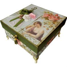 Materiais - Caixa Dama Vintage - Aula TV 10/10/2014