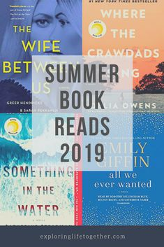 Good reads for your next book club. Perfect books for your next vacation! PERFECT BOOK CLUB READS that make interesting conversation! Where Crawdads Sing, The [. Summer Books, Summer Reading Lists, Beach Reading, Good Summer Reads, Happy Reading, Book Club Reads, Book Club Books, Book Lists, Book Clubs