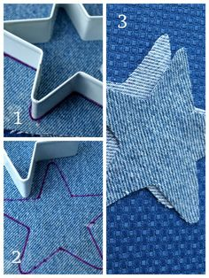 How to cut out the ornament shape. 2019 How to cut out the ornament shape. The post How to cut out the ornament shape. 2019 appeared first on Denim Diy. Christmas Sewing, Diy Christmas Ornaments, How To Make Ornaments, Primitive Ornaments, Jean Crafts, Denim Crafts, Sewing Hacks, Sewing Crafts, Sewing Projects