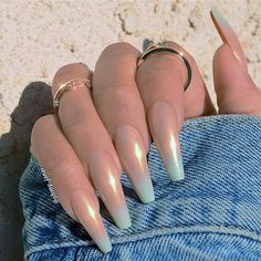 There are three kinds of fake nails which all come from the family of plastics. Acrylic nails are a liquid and powder mix. They are mixed in front of you and then they are brushed onto your nails and shaped. These nails are air dried. Solid Color Nails, Nail Colors, Manicure Colors, Prom Nails, Long Nails, Short Nails, Cute Nails, Pretty Nails, Hair And Nails