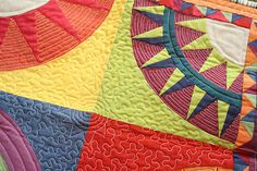 love this entire piece, but the quilting is extra sweet! on Freshly Pieced