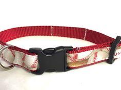 Dog collar baseball dog collar ball collar red by DazzleDoggieCo