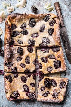 Blackberry Lavender White Chocolate Clafoutis.