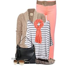 """""""Stripes & Leopard"""" by colierollers on Polyvore"""
