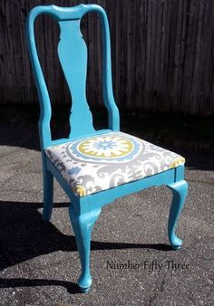 Number Fifty-Three: Bold Peacock Vintage Dining Chairs