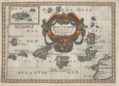 Original copper engraving map of 'Isle Canaries' by N Sanson c.1680   Flickr - Photo Sharing!