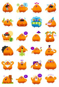 Monster Mike - Social Messenger app stickers on Behance