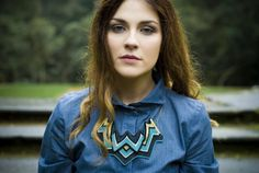Asp - Knitted Statement Necklace, Sculptural Chevron knit in Teal and Gold at Folksy.com