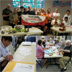 """Trinity Lutheran Church/Willoughby, OH: Thank you to all of the 'Workshop For Heroes' participants for taking time out to stuff Battalion Buddy Bears, write letters, make paracord """"survival"""" bracelets (and more!) for our care packages! We are grateful for your support!"""