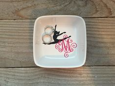 Monogrammed Jewelry Dish Ring Dish by JenniferCraftCorner on Etsy Dance Teacher Gifts, Dance Gifts, Personalized Rings, Personalized Wedding Gifts, Grandpa Gifts, Gifts For Mom, Family Gifts, Tween Gifts, Monogram Jewelry