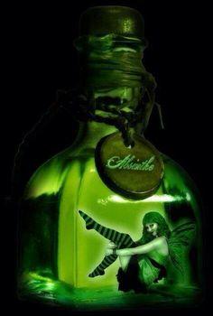by twilightstars on DeviantArt Absinthe Drinker, Green Fairy Absinthe, Psychoactive Drug, Spirit Drink, Henri De Toulouse Lautrec, Shall We Dance, Good Spirits, Mermaid Art, Illustrations