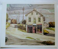 $29.99  Group OF Seven ART Print Village Store BY A J Casson | eBay
