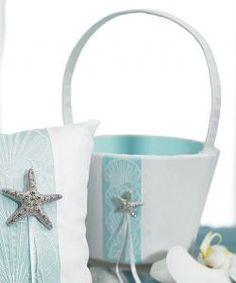 Seaside allure flower girl basket