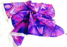 100% natural silk scarf  75x75cm