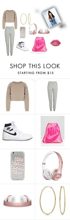 """Does it look like I care?"" by queenniyniy on Polyvore featuring My Mum Made It, Topshop, NIKE, Bling Jewelry, Lime Crime and takeahint"
