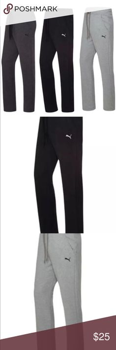 Puma men's fleece straight leg sweatpants Product Details Start out ahead of the game in these T7 pants from Puma, featuring performance dryCELL fleece and a look stylish enough for running errands on the way home from the gym. dryCELL wicking technology helps evaporate moisture Fleece fabric Elastic waistband with drawstring Pockets at sides T7 panel at sides Cotton/polyester Machine washable Puma Pants Sweatpants & Joggers