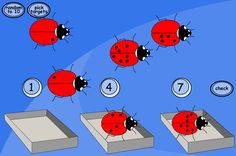 Ladybird Spot Sorting: Sort the ladybirds based on the number of spots they have. Make and encourage observations, such as 'not all ladybirds with 8 spots have 4 on each side'. If we're sorting 10, 5 and 2 spots, can you estimate which is which without actually counting?
