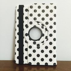 Polka-Dot rotation leather case iPad mini 1/2/3 Polka-Dot rotation leather case iPad mini 1/2/3 Cute 360 rotate Polka-Dot leather case for iPad mini 1/2/3 generations with Front and Back full cover as well as smart automatic wake/Sleep function  Brand New Case  Color: White/Black $16 Only  What a nice deal:) Accessories