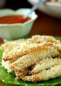 Parmesan Garlic Tilapia Sticks
