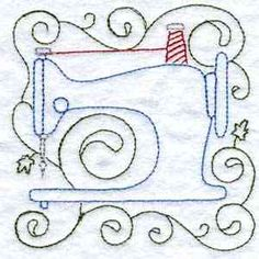 Buy Individual Embroidery Designs from the set Sewing Blocks Embroidery Floss Crafts, Diy Embroidery Designs, Embroidery Letters, Embroidery Applique, Quilting Designs, Embroidery Stitches, Sewing Machine Quilting, Fabric Embellishment, Sewing Cards