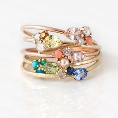Sweet Honey Mini Gem Cluster Ring