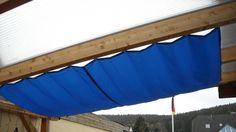 Terrassenbeschattung mit Elektroantrieb Anleitung zum selber bauen