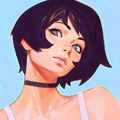 Papers.co wallpapers - az35-girl-face-ilya-kuvshinov-illustration-art - http://papers.co/az35-girl-face-ilya-kuvshinov-illustration-art/ - illustration