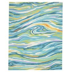 Loloi Rugs Olivia Life Style Collection Teal/Multi 7 ft. 6 in. x 9 ft. 6 in. Area Rug-OLVAHOL04TEML7696 - The Home Depot