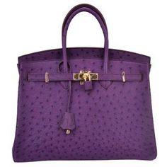 Ostrich Hermes Birkin Bag