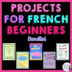 Do you need some new ways to assess your students' use of basic French vocabulary and grammar? If so, then you will LOVE these projects! Each includes detailed instructions and grading rubrics. The longer projects have pre-writing pages to help guide the writing process.