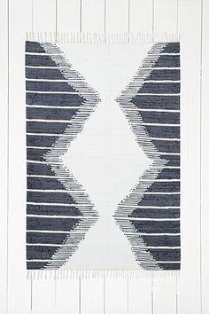 Tapis 4x6 motifs losanges bleu marine dégradés
