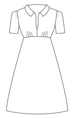 style dress sewing pattern by Sew La Di Da Vintage. Vintage Dress Patterns, Dress Sewing Patterns, 1940s Fashion Dresses, Vintage Inspired Dresses, Dressmaking, Sewing Box, Sewing Ideas, Sewing Projects, Designer Dresses