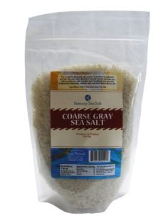 Coarse Gray Sea Salt From Guérande 2 Lb Stand up Pouch - http://spicegrinder.biz/coarse-gray-sea-salt-from-guerande-2-lb-stand-up-pouch/
