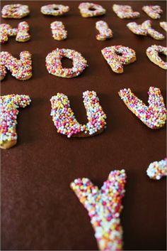 sprinkle letters.