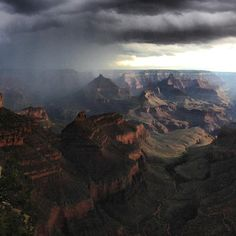 A powerful early morning storm came in and made for a majestic view Friday morning in Grand Canyon National Park. This view is of the South Rim looking north. Photo: Erin Whittaker