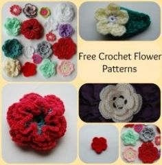All these Free Crochet Flower patterns are so easy, and once you make one, there will be no stopping you. Learning how to Crochet a flower is easy when you use these easy to crochet flower applique patterns, ideal for headbands, hats and scarves,...