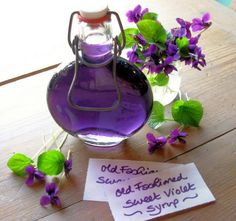 Old fashion sweet violet syrup. There is a recipe and its very yum.