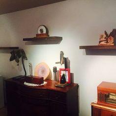 Jason Twing added a photo of their purchase Floating Mantle, Floating Shelf Brackets, Floating Shelves Diy, Long Shelf, A Shelf, Diy Home Crafts, Wood Crafts, Drywall Anchors, Back Bar