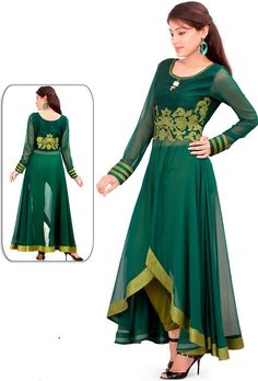 Awesome Bottle Green Kurti