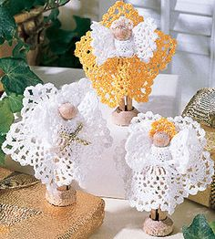 Clothespin and Thread Crochet Angels Pattern ePattern - Leisure Arts