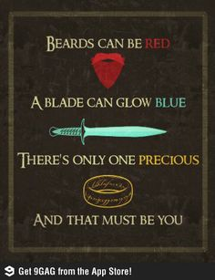 Lord of the Rings Valentine- Any guy who said this to me will win me over in a heartbeat!