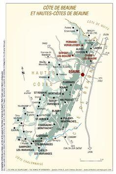 Cote de beaune map